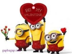 Funny Picture Of Minions For Valentines Day