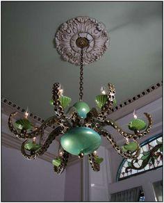 An appropriate light fixture for an Octopus's Garden