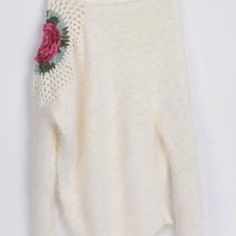 Cupshe Higher Flower Irregular Mohair Sweater