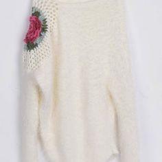 Cupshe Higher Flower Irregular Mohair Sweater