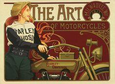 Vintage Harley Davidson Art of Motorcycles by Vintagemasters, $19.95