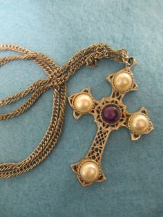 Vintage Jewelry Sarah Coventry Cross by THEFEATHERMERCHANT on Etsy