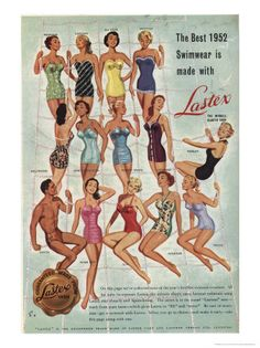Lastex Ladies Swimwear Premium Poster