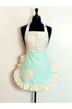 So cute!! From Sugar Baby Aprons: The Vintage Darling in mint green