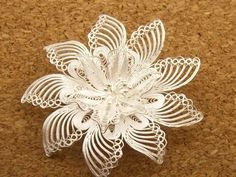 Vintage Filigree Flower Sterling Silver 925 Pin Brooch 8 9g | eBay