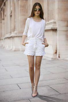 Shop this look on Kaleidoscope (shorts, top, pumps, sunglasses)  http://kalei.do/WATodmAsn2jYHRNM