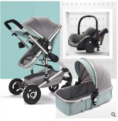 Belecoo 2 in 1 High Landscape Stroller   0 - 36 months  Price: 279.15 & FREE Shipping  #mybaby