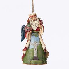 Brazilian Santa Around World Ornament by Jim Shore 2015 new 4047791