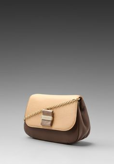 See by Chloe, Rosita Chain Purse, Taupe/Cream/Pale Gold, $395