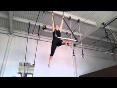 Beginner tricks on static trapeze - YouTube