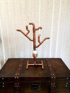 Copper Pipe Tree Votive Candle Holder Steampunk by CopperPipeDream