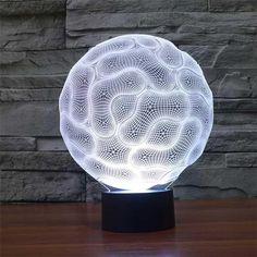 RGB DEL Lampe de chevet logement Céramique Bouddha Tissu Lampe personnage Télécommande