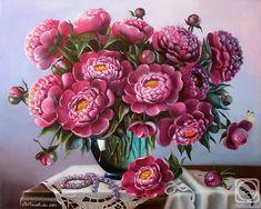 """Peonies and Pearls"" by VALENTINA VALEVSKAYA."