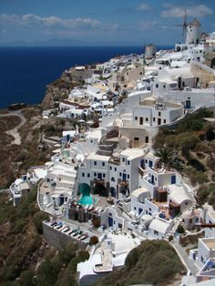 Santorini rises and falls with the hillside.