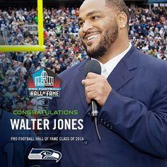 Walter Jones elected to the Football Hall of Fame! Seahawks Gear, Seattle Seahawks, Alan Faneca, Walter Jones, Football Hall Of Fame, National Football League, American Football, Congratulations, Baseball Cards