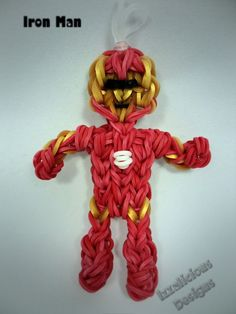 Tutorial on how to make IronMan using the Rainbow Loom - single loom required