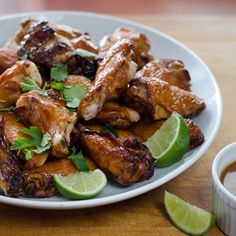 Crispy smoked and grilled chicken wings - so simple and delicious. Paleo, glutenfree recipe.  | cookeatpaleo.com