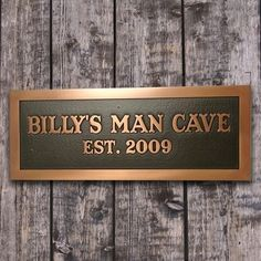 Man Room Man Cave Plaque for Him by AtlasSigns
