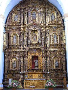 Gold and silver altar, Cuernavaca, Mexico
