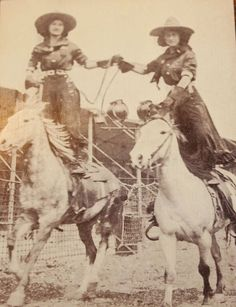 101 Ranch Wild West Show Parry Sisters -