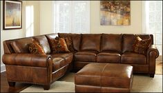 Broyhill Sofa Caramel Leather Sectional Sofa Best Home Design Ideas Gallery