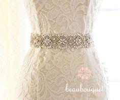 SWAROVSKI Bridal Sash Crystal Belt Bridal Beaded Crystal Sash Wedding Sash Bridal Belt