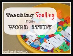 Teaching Spelling Through Word Study #homeschool #iHN @thisreadingmom
