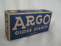 Vintage Argo Gloss Starch FACTORY SEALED by VintageByThePound on Etsy