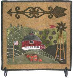 Primitve Folk Art Wool Applique Pattern  Down on by PatternsLady, $8.95