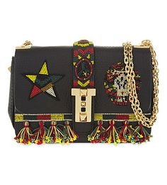 VALENTINO B-Rockstud Leather Micro Shoulder Bag. #valentino #bags #shoulder bags #lining #suede #