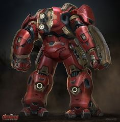 Marvel Studios concept artist Josh Nizzi has revealed his incredible designs for Avengers: Age of Ultron featuring some vert cool and unusual alternate designs for Iron Man's Hulkbuster armour and Ultron. Marvel Art, Marvel Heroes, Marvel Comics, Hulk Buster, Marvel Universe, Iron Man Hulkbuster, Iron Man Art, Transformers, Ironman
