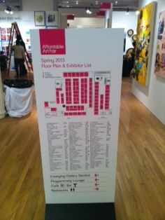 The map and layout on the first floor of The Affordable Art FAIR @ The Metropolitan Pavilion.