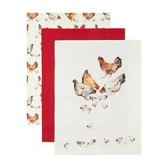 George Home Chicken Tea Towels - 3 Pack | Home & Garden | George at ASDA