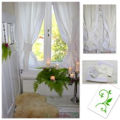 Oryginal, handmade white curtains decorated with cotton lace. Perfect for rustic, boho, vintage, shabby chic and cottage interiors. Made of natural cotton blend fabric with linen and elana. Each of our products is designed and hand made by us.