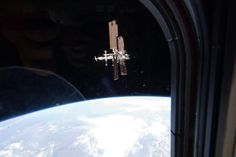 Last View  This image of the International Space Station was taken by Atlantis' STS-135 crew during a fly around as the shuttle departed the station on Tuesday, July 19, 2011. STS-135 is the final shuttle mission to the orbital laboratory.    Image Credit: NASA
