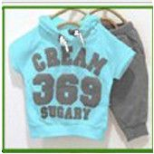 spring and autumn hot-selling baby child army letter 100% cotton set sport suits