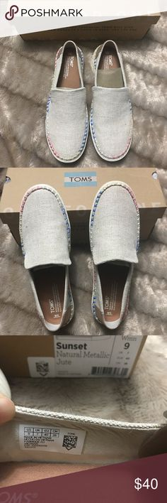 7d91867ea4d Shop Women s Toms Tan size 9 Flats   Loafers at a discounted price at  Poshmark. Description  Super cute Toms slip on.