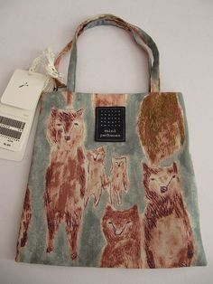 wolfie bag by mina perhonen Japanese Bag, Textile Design, Bag Making, Fashion Bags, Purses And Bags, Women's Bags, Gifts For Women, Sewing Projects, Reusable Tote Bags