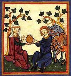 Tristan et Yseut drink the philtre d'amour
