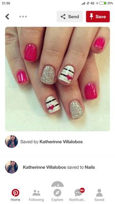 Cute Nails, Body Care, Pretty In Pink, Health And Beauty, Diana, Manicure, Nail Designs, Mary, Work Nails