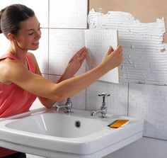 Want to do a bathroom renovation, but you're on a really tight budget? Here are some renovation advices from a home remodeling company, that can help: http… Home Improvement Grants, Home Improvement Projects, Bathroom Renovations, Home Remodeling, Kitchen Remodeling, Bathroom Ideas, Bathroom Remodelling, Bathrooms, How To Lay Tile