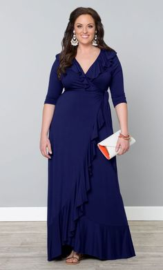 Maritime Maxi Dress Mariner Blue (Womens Plus Size) From The Plus Size Fashion Community At www.VintageAndCurvy.com