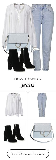 """""""Untitled #6245"""" by laurenmboot on Polyvore featuring Topshop, Faith Connexion and Chloé"""