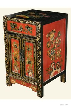 Chinoiserie Painted Cabinet: For sale at www.DUSX.com