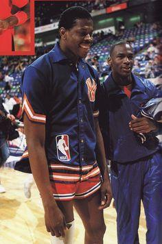 Patrick Ewing an Michael Jordan