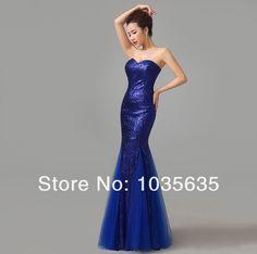 Frete grátis mulheres Shinny Mermaid Lace partido Prom vestido longo vestido de noite W7 em Vestidos de Baile de Estudantes de Casamentos e Eventos no AliExpress.com | Alibaba Group