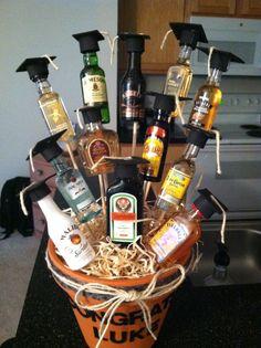 Graduation booze bouquet