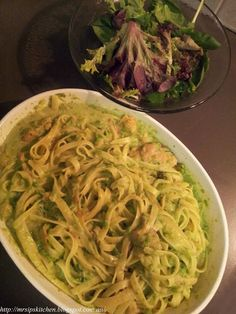Mrs. Ip's Kitchen: Jamie Oliver's 15 Minute Meals Fettuccine, Smoked Trout, Asparagus & Peas