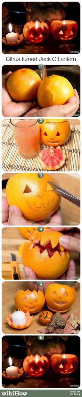 Citrus Jack O'Lantern