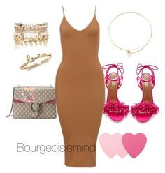"""""""Day 5"""" by bourgeoisiemind on Polyvore featuring Aquazzura, Gucci, Jeweliq, River Island, Sephora Collection, women's clothing, women, female, woman and misses"""